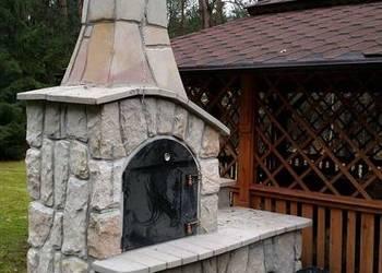 wędzarnia, grill, grillowędzarnia z kamienia murowana
