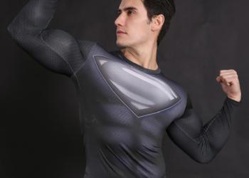 Koszulka Termoaktywna rashguard DC SUPERMAN NA SIŁOWNIE r. L