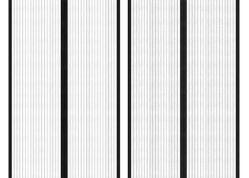 Osłona na drzwi moskitiera z rzepem 210 x 100 cm 2 szt 40920