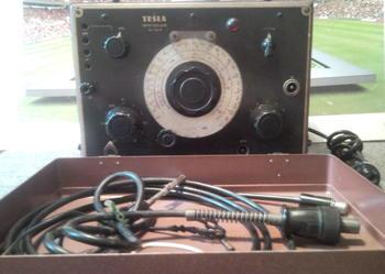 Urządzenie pomiarowe Tesla-534B.Oscylator z 1955r.