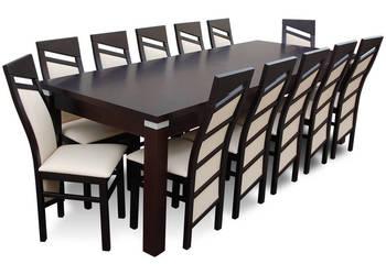 Duży stół 100/250/350 z 12 krzesłami- Okazja!