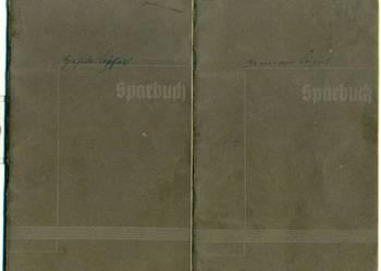 Sparbuch stare niemieckie dokumenty 1940 rok jednej osoby