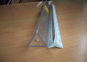 Liniał trójkątny skali metrycznej