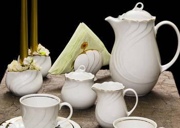 Serwis do kawy Eunice / Trato 12-osobowy porcelana Wałbrzych