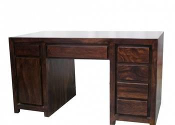 piękne kolonialne drewniane biurko z palisandru indyjskiego