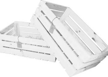 Drewniana skrzynka dekoracyjna 60x40x20 biała