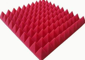 panele akustyczne maty piramidki gąbki pianki wyciszające