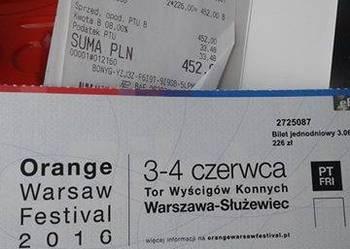 Sprzedam 2 bilety na Orange Warsaw Festival