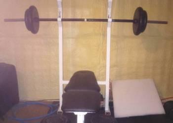 Ławeczka treningowa do ćwiczeń, ławka pod sztangę