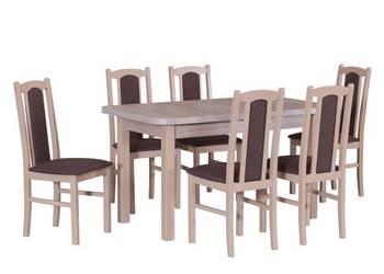 Zestaw,Stół 80/140/180 + 6 krzeseł -Tanio!