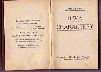(437) DWA CHARAKTERY – M.WIERZBIŃSKI - OKOŁO 1920 ROKU