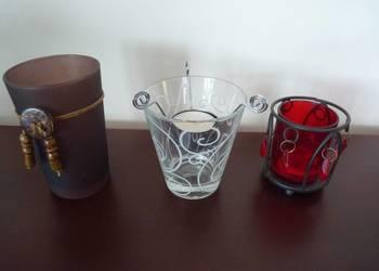 Trzy swieczniki szklaneczki