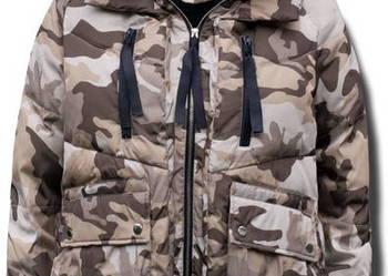 Kurtka Damska Zimowa Kaptur Military Moro #108 fashionavenue