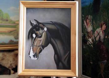 Piękny Sygnowany Obraz olejny na płótnie malowany ręcznie.