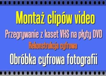 Zmontuje wideo w jeden film,przegram z VHS na DVD lub nośnik