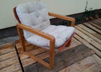 Fotel z Poduszką Drewniany
