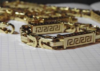 EKSKLUZYWNY  złoty łancuch królewski 585 14k