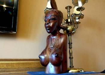 Rzeźba akt kobieta popiersie z Afryki