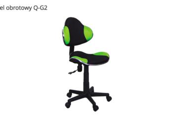 Fotel obrotowy Q-G2 zielony + czarny, krzesło do biurka NOWE