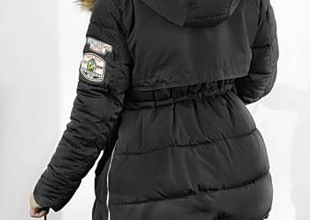 Kurtka Parka Military Asymetryczna Czarna #111 FashionAvenue