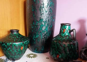 Zestaw wazonów ceramicznych