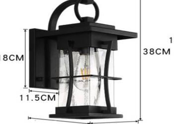 Lantern - kinkiet - duża lampa ścienna elewacyjna