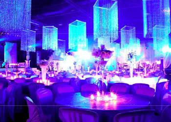 Girlandy kryształowe - dekoracje na wesela, przyjęcia, śluby