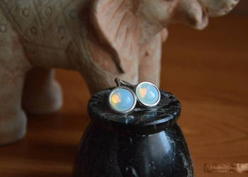 Opal niebieski Kolekcja baśniowa Kolczyki z Galerii