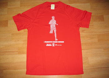 Koszulka techniczna rozmiar M czerwona