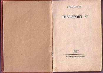 (6333) TRANSPORT  77 – ZOFIA LORENTZ