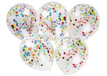 Balony z konfetti, krystaliczny duży, ślub, urodziny impreza