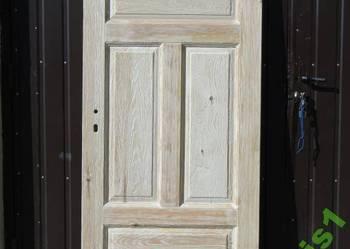 Drzwi wewnętrzne, postarzane, ryflowane, wiejskie