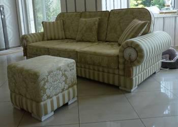 Kanapa sofa klasyczna rozkładana wypoczynek stylowa trójka