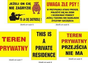 TABLICA TABLICZKA TABLICE teren prywatny złe psy