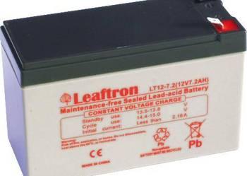 Akumulator Leaftron 12v 7,2Ah systemy alarmowe