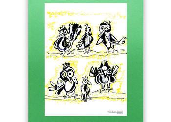 Fajny Plakat Do Pokojuplakat Z Ptaszkamiplakat Z Ptakami