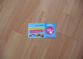 Kupon rabatowy -50zł SHAPE IT odżywki dla aktywnych kobiet