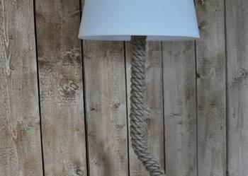 Designerska lampa podłogowa ze sznura LOFT
