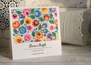 Folkowe zaproszenia ślubne #Kreatywne Studio Papieru