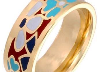 Emaliowany pierścionek jak Frey Wille