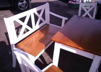 Ławka ławki prowansalska shabby chic drewniana biała