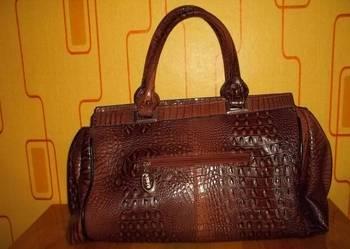 Nowa torebka kuferek skóra krokodyla J&D Paris DAVID JONES