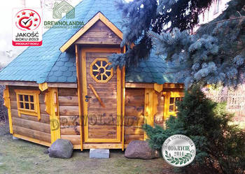 domek grillowy altana chata grillowa sauna kota Drewnolandia