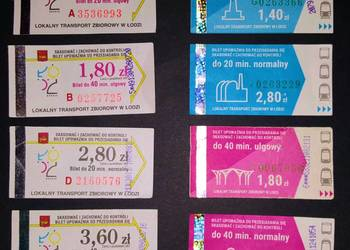 Bilety komunikacji miejskiej i kolejowe