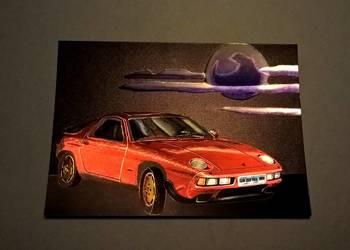 """Pocztówka laserowa / obrazek """"Porsche 928 S"""""""