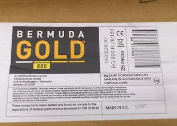 LAMPA BERMUDA GOLD 1000 2.6% longlife do ergoline