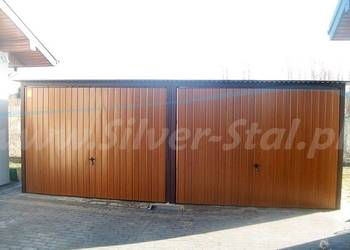 Garaż blaszany 6x6 bramy uchylna blacha kolor I gatunek