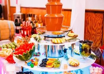 Fonataan czekoladowa, podświetalne podesty do fontann