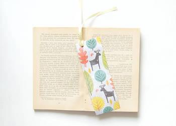 ładna zakładka do książki z jelonkami,w jelonki zakładka