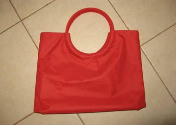 torebka czerwona * torba na zakupy * torba do ręki